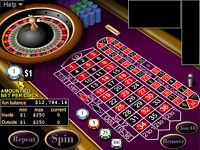 Play free online European Roulette