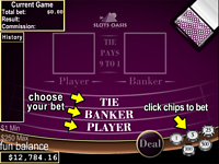 Play Free Online Baccarat
