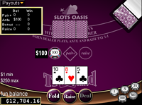 Play free online Tri Card Poker