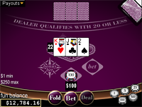 Play free online Vegas Three Card Rummy