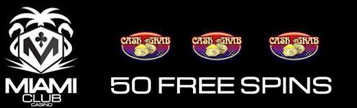 Miami Club Free Spins Bonus Code