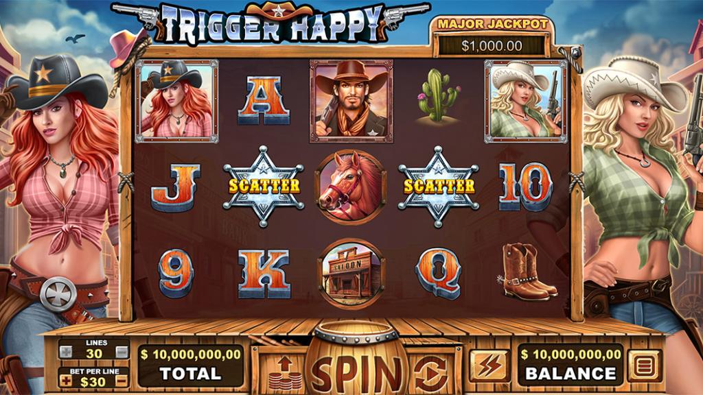 Trigger Happy Slot Game Screenshot