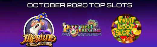 Most played Casino Slot games of October 2020