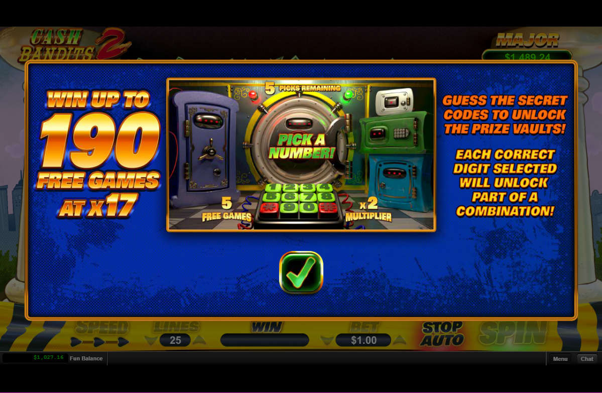 Cash Bandits 2 Vault Feature